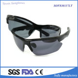 Nuevos deportes negro gafas de sol polarizadas de moda Liberadas
