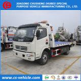 Caminhão de Wrecker Flatbed do caminhão de reboque de Dongfeng 4X2 3-8t para a venda