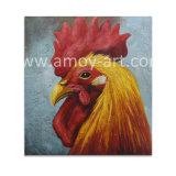 Hechos a mano pinturas al óleo de la cabeza de gallo para la Decoración de pared