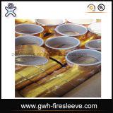 Goldene Farben-Hitzeschild-beständige Verpackungs-Aluminiumfolie und Faser-Glas