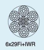 호이스트 Ungalvanized 철강선 밧줄 6X29fi+Iwrc