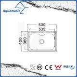 Acero inoxidable Topmount lavado Cocina fregadero (AEC6046)