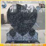 Headstone a forma di del granito del cuore blu della perla