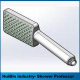 Quadratisches festes Messingchrom-Handdusche-Kopf mit Wand-Verbinder-und Schlauch-Set