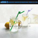 350ml rimuovono la tazza di vetro del muratore per il tè di ghiaccio di estate