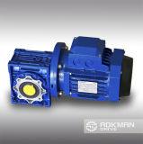 Serie RV Gusano Cajas de velocidades, Reductores Worm, Reductores de engranajes de reducción con salida y brida de entrada, de entrada y de salida del eje