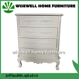 Античная деревянная мебель комнаты шкафа хранения живущий с ящиком в Cream цвете
