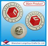 Pin révélateur de revers d'insigne de forme ronde en métal