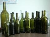 bottiglia di vino verde scuro 750ml