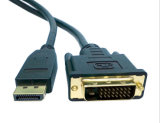 1.8m Displayport (DP) aan de Convertor van de Kabel DVI