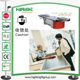 Supermarkt-Kassierer-Schreibtisch-Tisch-Prüfungs-Kostenzähler