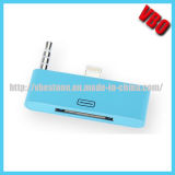 Lightning 8pin to 30pin Dock Audio Charger Adapter para iPhone 5 5s 5c
