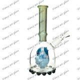 A tubulação de água de vidro do projeto o mais novo com mistura colore as tubulações de vidro