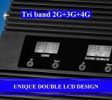Tri полоса 900/1800/2100MHz, передвижной репитер сигнала ракеты -носителя 2g 3G 4G сигнала
