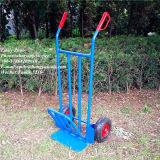 Carretilla de acero azul resistente de la mano de dos ruedas (HT1893)