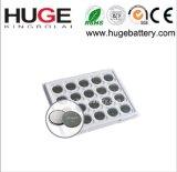 batteria Cr2016 delle cellule del tasto del metallo del litio di 3V 75mAh