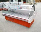 L'automobile dégivrent le refroidisseur en verre incurvé d'étalage de poissons d'acier inoxydable de réfrigérateur de porte