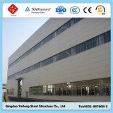 El tramo largo de almacén de la estructura de bastidor de acero prefabricados