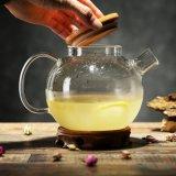 Design Europeu de exportação pote de café de vidro com tampa de bambu chaleira de vidro