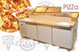 Banco da lavoro hamburger/della pizza con 3 portelli e frigoriferi