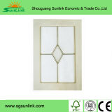Porte de Module de cuisine d'enveloppe de vinyle de PVC avec la glace