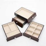 رف لمعان طلاء لّك [سليد ووود] صندوق لأنّ مجوهرات