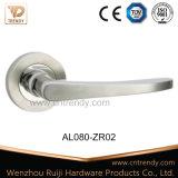 Никель и ручка двери хромовой краски алюминиевая на розетке (AL017-ZR05)