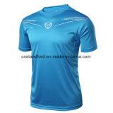 Camiseta de secado rápido respirable de la compresión de los deportes de 2017 nuevos hombres del diseño