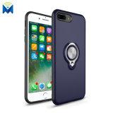 Cubierta posterior magnética del caso con el sostenedor del anillo de 360 grados para el iPhone 8 7 más 6 X