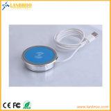 Chargeur sans fil mobile de remplissage sans fil de garniture certifié par Qi pour Samsung