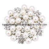 Il Brooch nuziale della perla di Pin di cerimonia nuziale del fiore del Rhinestone per decora (TB-036)