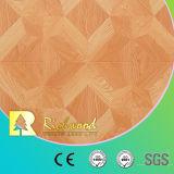 plancher en bois stratifié insonorisant de chêne de la noix E0 gravé en relief par AC4 de 12.3mm