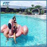 2018 Reuze nam de Gouden Vlotter van de Pool zwemmen de Zwemmende Ring van het Vlot van de Flamingo toe