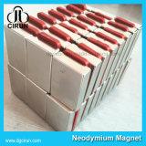 Ímã poderoso forte do Neodymium da barra do bloco do revestimento de zinco