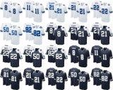 Abitudine bianca in bianco del pullover di football americano dell'azzurro di blu marino del gioco di Beasley Ezekiel Elliott del Cole di Dallas Troy Aikman dei bambini dei capretti delle donne del Mens qualsiasi nome qualsiasi numeri