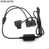 D-toca encendido 14,8V de la batería a dos mujeres USB 5V 2A Cable de alimentación CC