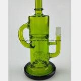 Pipe de fumage en verre vert du filtre pour récupérer la pipe de tabac
