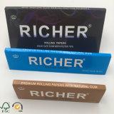 Papel de balanceo blanco fino del consumo de tabaco de Ultran de una marca de fábrica más rica