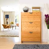 居間(FS-S024)のための骨董品によってカスタマイズされる家具の木の靴のキャビネット