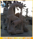 Standbeeld van de Goudvis van het Beeldhouwwerk van de steen het Dierlijke