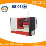 중국 살아있는 장식새김 및 자동 귀환 제어 장치 스핀들을%s 가진 기우는 침대 CNC 기계