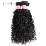 Remyの人間の毛髪の織り方のペルーのカーリーヘアーの織り方8-28のインチ自然なカラー大広間のRemyの毛