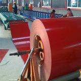 цвет строительного материала 0.49*1250mm покрыл гальванизированную стальную катушку