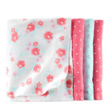 Impressão promocional de malha de algodão Receber manta com alta qualidade