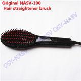 LED de cerámica eléctrica profesional el alisado del cabello cepillo