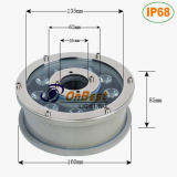 Luz caliente económica de la fuente del estilo LED 9W LED en IP68 para las aplicaciones submarinas