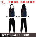 Healong dernière conception Sportswear plein de Sublimation de Colorant Plain Hoodie