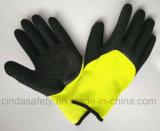 Перчатки безопасности Coated труда производственных рабочих латекса вкладыша Терри защитные
