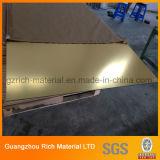 tarjeta de acrílico plástica de acrílico del plexiglás de la hoja del espejo de oro de 1-2-3m m/del espejo para la decoración