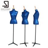 Голубая женская форма платья, манекены портноя, женские манекены